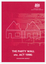 Party Wall Act 1996 leaflet